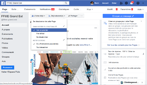 Parametrer Notification Facebook